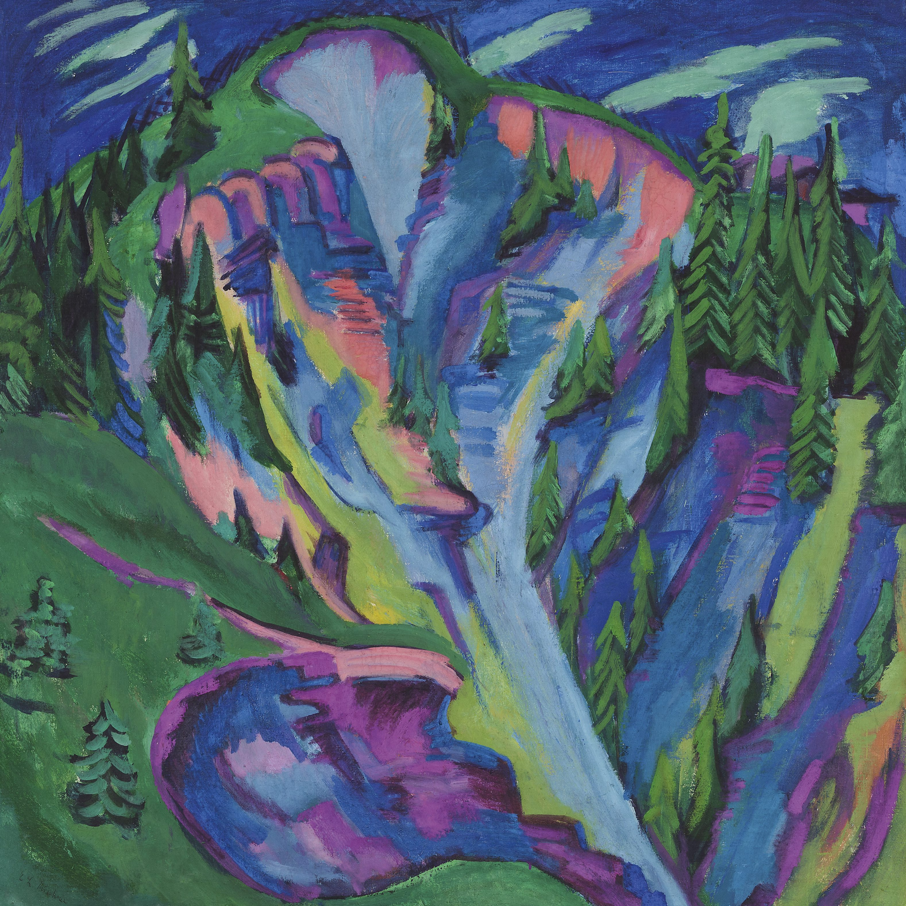 Ernst Ludwig Kirchner - Das Tobel, 1920