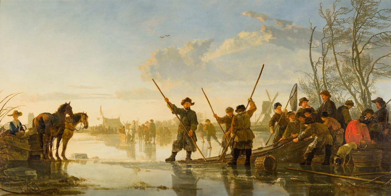 Aelbert Cuyp - IJsgezicht bij Dordrecht